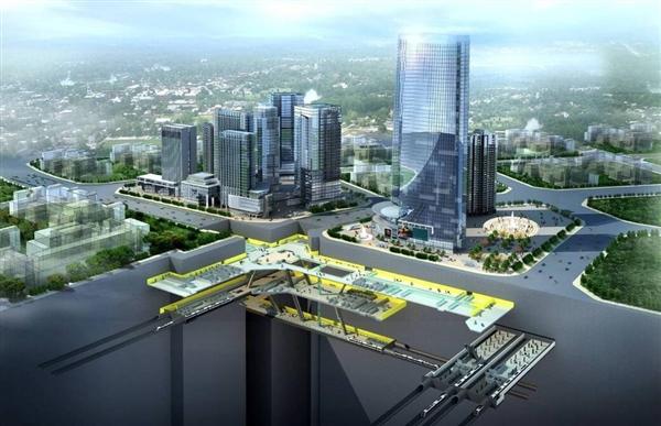 中国最大地下火车站见雏形:25个足球场!