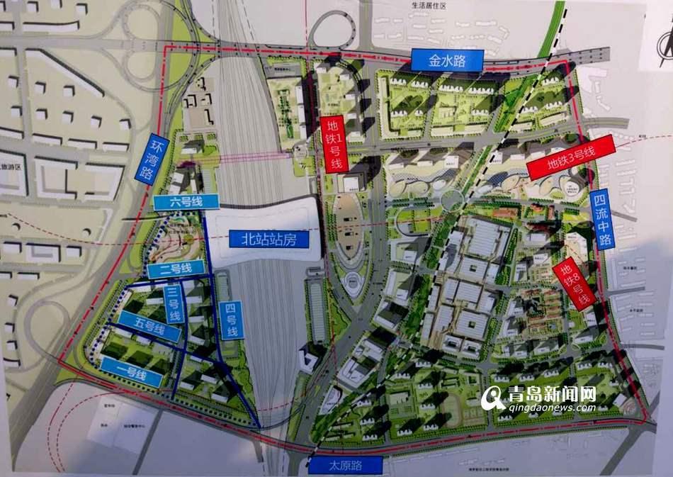 青岛北站内四条道路年底完工 达到通车条件(图)
