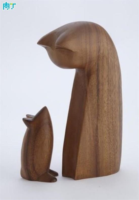 可爱的木雕小玩意创意手工作品图片欣赏