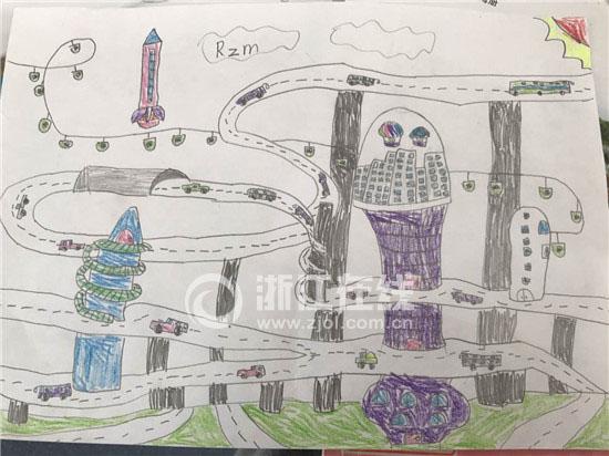 看看这些画作的线条、色彩和空间,美术老师评价,分明就是三年级学生才会达到的呀,没有上过任何美术兴趣班的兄弟俩完全是凭着自己的感觉画出了这些有想法的作品。 双胞胎遇到最多的趣事就是因为长得像,经常被同学、老师混淆。饶子和和饶子睦也会偶尔遇到这样的事,开心的兄弟俩觉得被人认错也是件很好玩的事情。