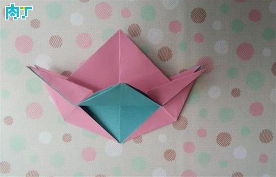教你折纸盒 如何折四角星纸盒子的做法图解