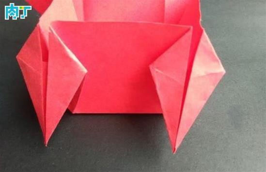 手工纸盒之四角爱心纸盒的折法图解教程