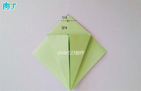 手工折纸玉兔小书签的折纸方法图解教程