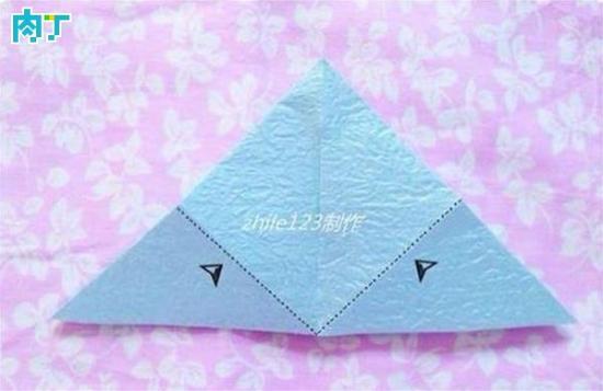 手工折纸制作 浪漫雨小伞折纸方法图解教程
