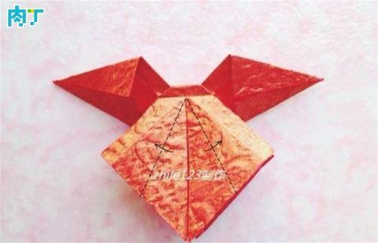 漂亮时尚的简单折纸蝴蝶结步骤图解教程