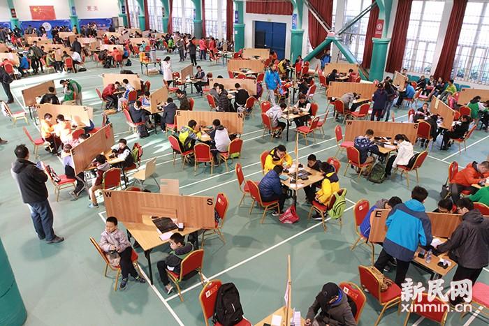 上海市首届学生智力运动会开幕