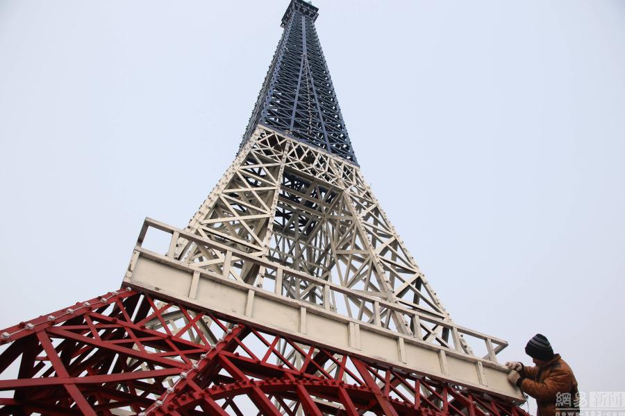 山东现山寨版埃菲尔铁塔