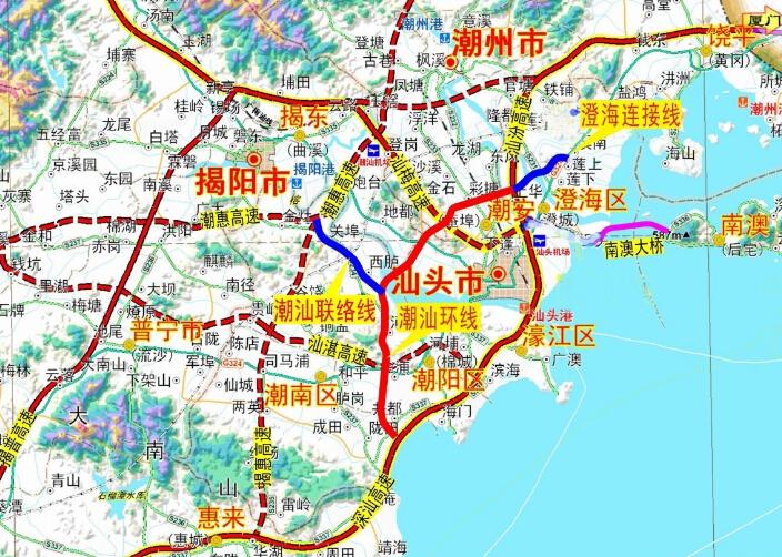 潮汕环线高速年底动工建设 预计2019年建成