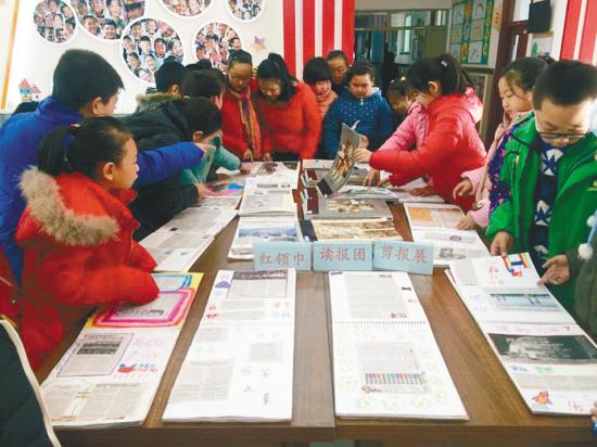 孩子们每天读《沈阳日报》已成习惯