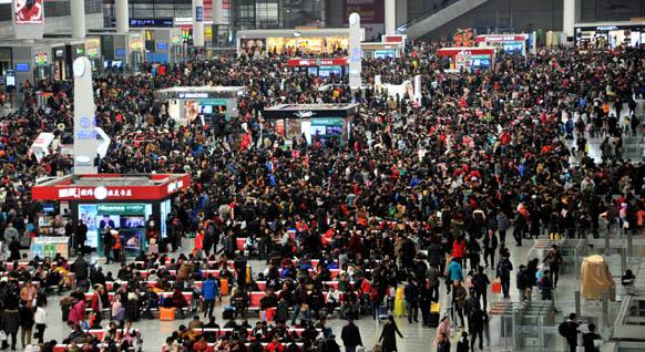 虹桥站将迎节前客流高峰 成全国最热门到达站