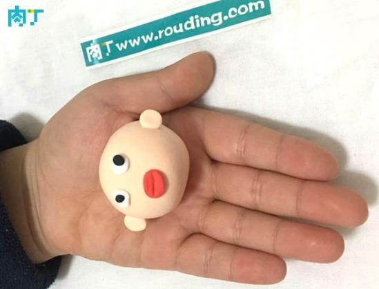 简单diy轻粘土玩偶作品—小指挥家的制作步骤