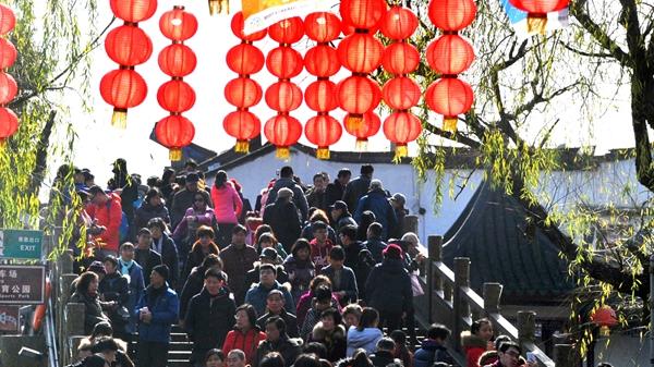 春节假日七天全国接待游客3.44亿人次 旅游收入4233亿元