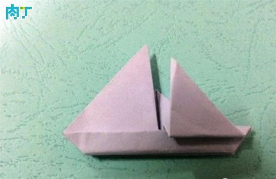 一款简单的帆船书角折纸步骤图 创意diy儿童折纸