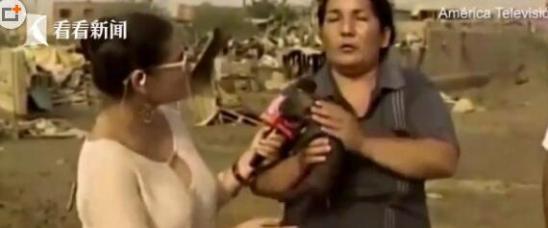 小猪吃人奶视频_辣眼睛!灾区大妈接受直播采访突然撩衣给小猪喂奶