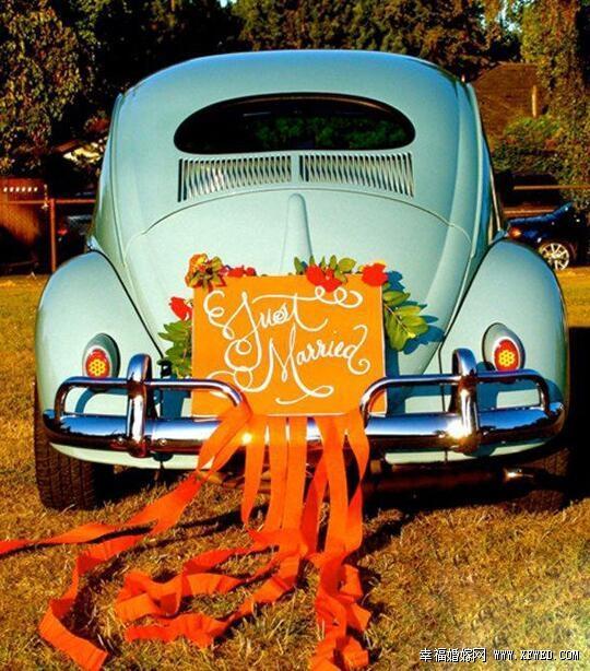 10种方式教你如何装饰婚车图片