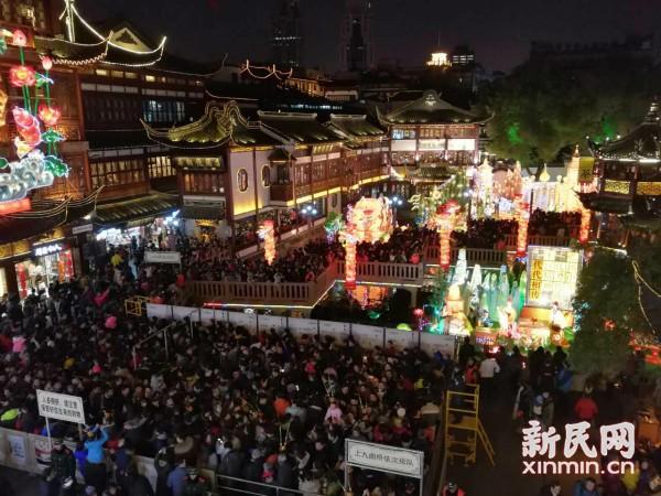网络中国节·元宵 |豫园元宵节迎来大客流 瞬时客流接近25000人