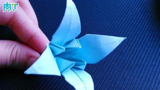 简单的diy花朵折纸 漂亮的百合花的具体折法