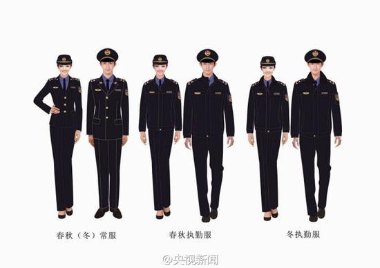 城管统一制式服装亮相 年底前将全国使用
