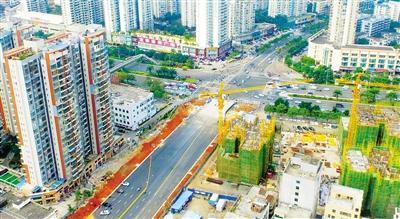 海口道客路主路面完工 将连接龙昆南至海德路