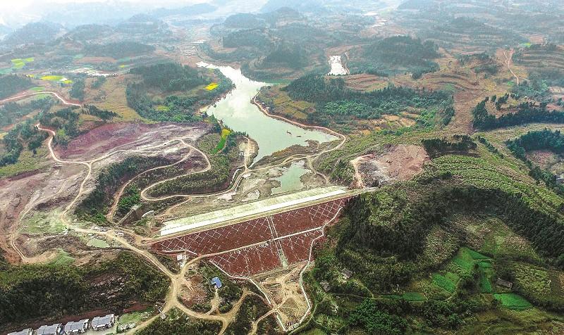 三仙湖水库大坝主体工程基本完成(图)