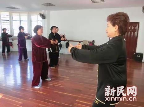 虹口区老年大学太极拳班开学
