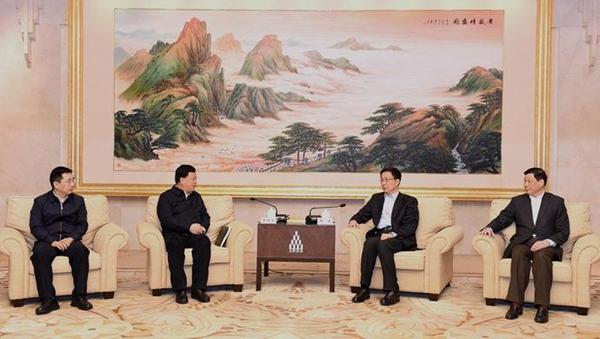 韩正应勇会见遵义党政代表团