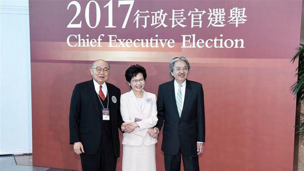 林郑月娥在香港特区第五任行政长官选举中胜出