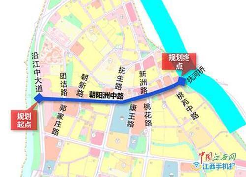 红谷隧道通车在即 南昌朝阳洲中路拟提升改造