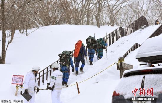 日本栃木县雪崩已造成48人受伤 8人心肺停止