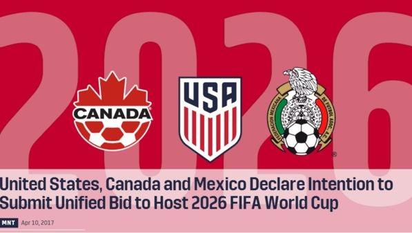 美国、加拿大、墨西哥宣布联合申办2026年世界杯