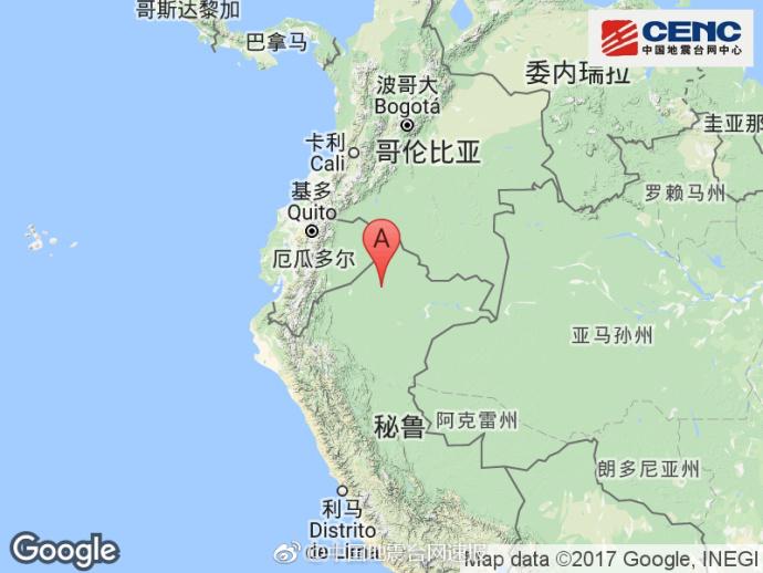 秘鲁及厄瓜多尔边境地区发生6.0级地震