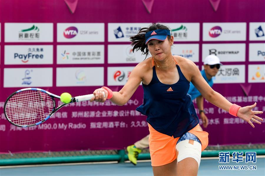 郑州女子网球公开赛 段莹莹晋级图片 76078 900x600
