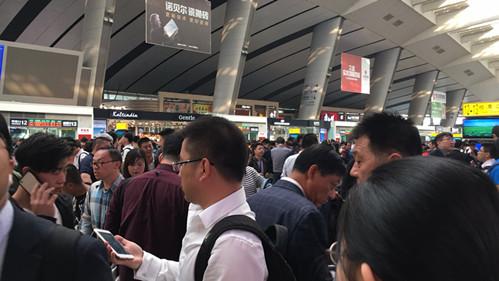 京沪高铁接触网挂异物 北京南站部分列车晚点