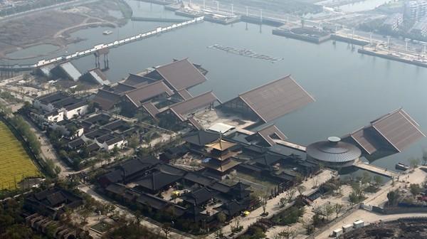 """暂勿前往!""""广富林""""遗址公园明年开园 目前仍在紧张施工"""