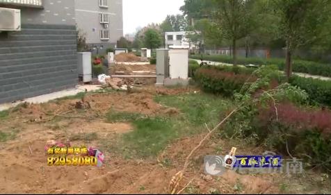 济南东方圣景小区大面积绿地遭破坏 业主称物业要建停车位