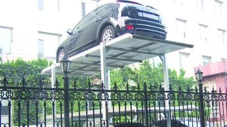 破解先天不足 上海普陀一小区改平面车位为立体车位