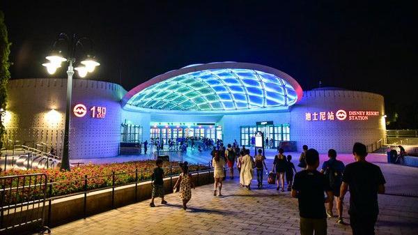 4月30日及5月1日晚 沪地铁11号线迪士尼站单向加开列车