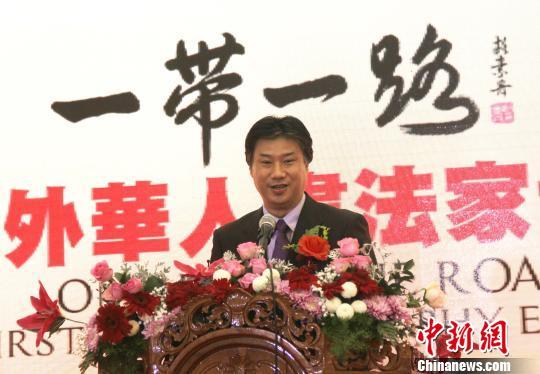 中国驻印尼大使馆文化参赞周斌到场祝贺。 林永传 摄