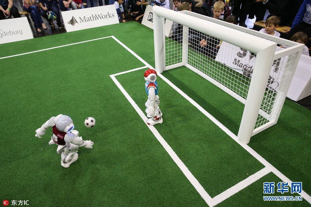 当地时间2017年5月7日,德国马格德堡,2017   机器人世界杯   德国公开赛   举行.