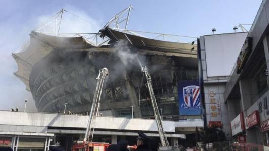 因起火后修缮 本周德比战虹口足球场有限度恢复使用