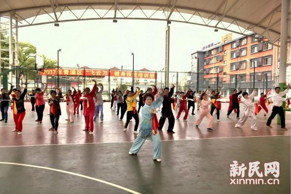 飞云刀培训班在上海青浦开学