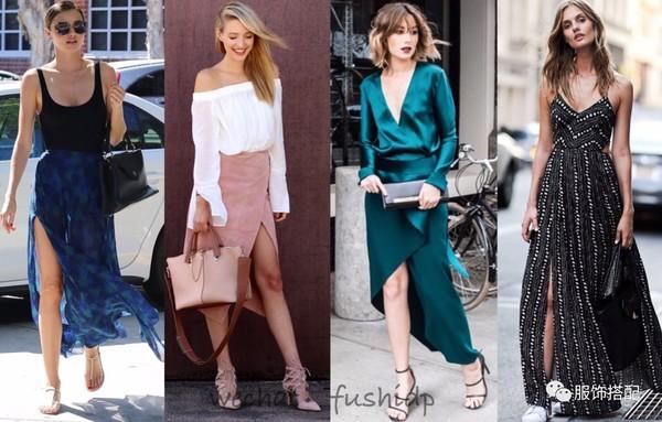 今夏裙子开叉才是真时髦,优雅性感得很高级!
