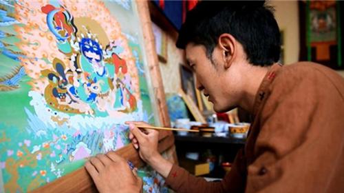 带你走进不一样的西藏(六)画笔中最美的线