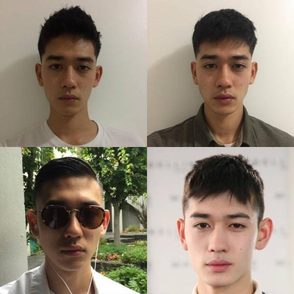 他的发型基本上都是后脑勺和两侧很短图片