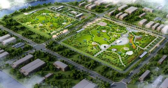 """""""全地下式""""泰和污水处理厂开工建设 上层空间为开放式公园绿地"""
