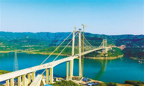 万州驸马长江大桥年内建成通车