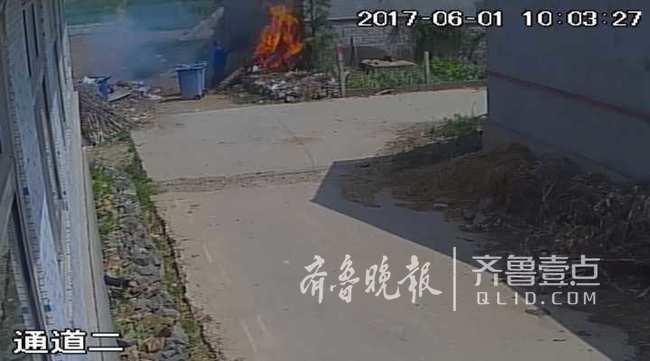 莫大意!山东一农户焚烧垃圾差点点燃别人房子