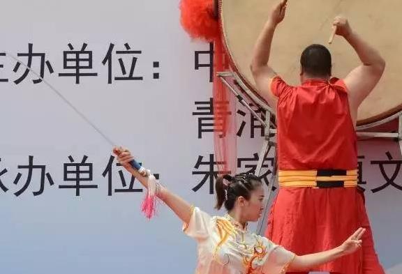 朱家角镇第四届运动会开幕 丁裕春等展示江南船拳