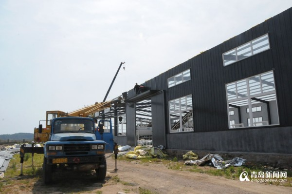 崂山最大违章建筑被拆 耗资150万占地3000平