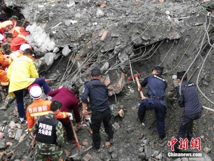 茂县山体垮塌确认120余人被埋 专家称生还概率非常小